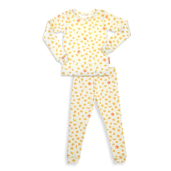 Ocean Shales Unisex 2 Pieces Soft Cozy Pajama Set / Made in Brooklyn NY / GOTS Certified Organic cotton