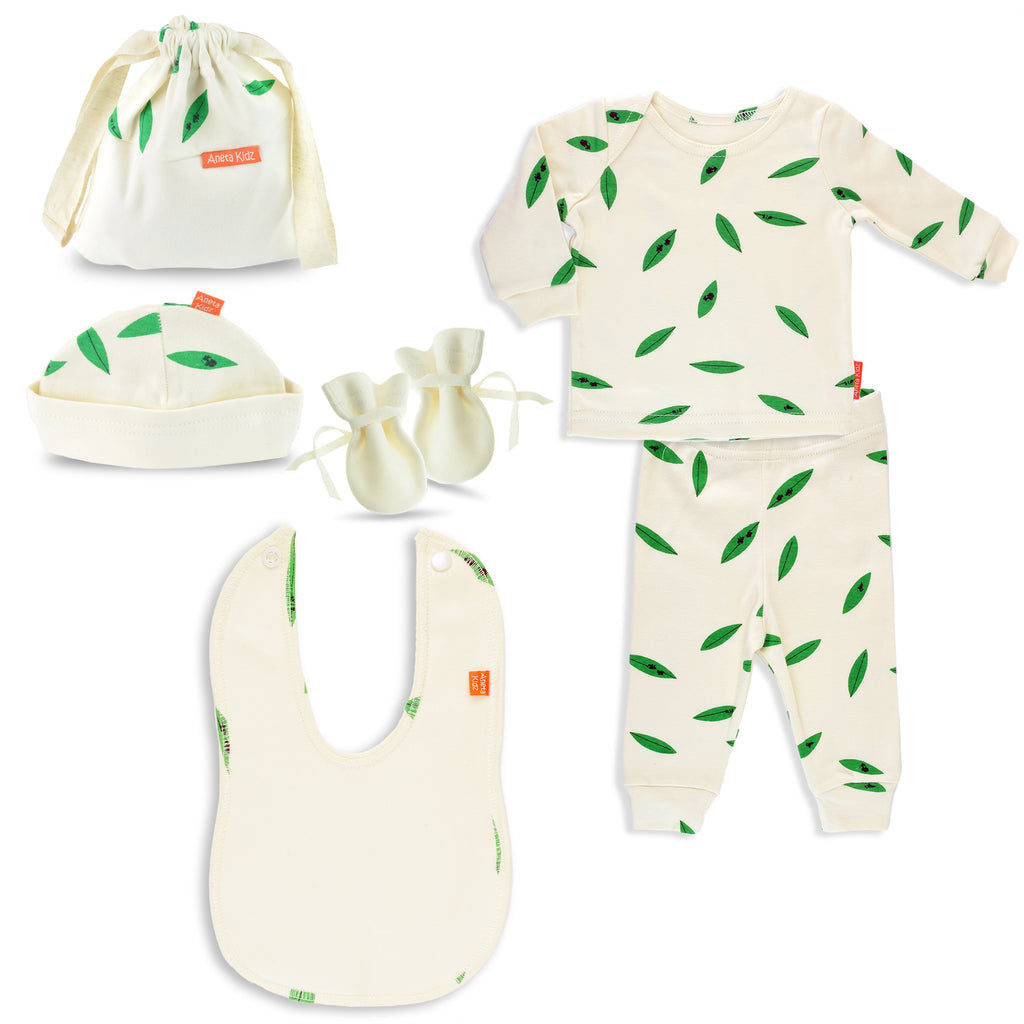 Happy Leaves Unisex Baby Gift Set