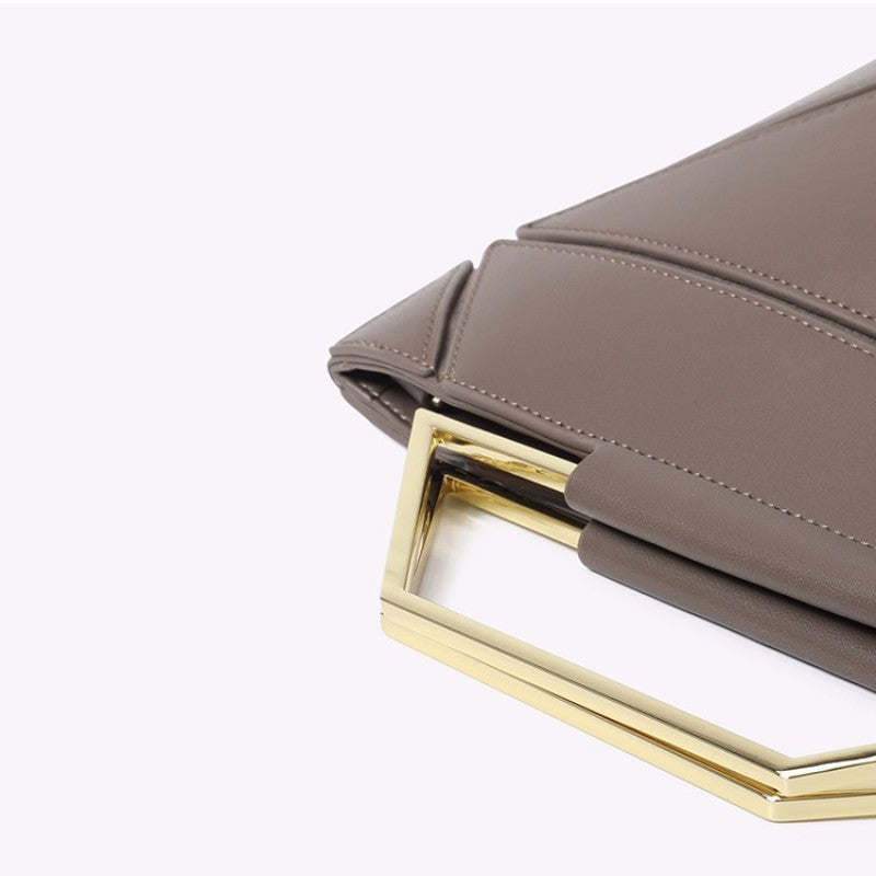 9c1eaa92f0f ... Leather Handbag Clutch Bag Simple Style Fashion Genuine Bag Outfit with Bags  Best gift - icraftleather