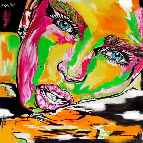 joyfrench art, contemporary art, joy,french art, gold coast artist, portrait artist