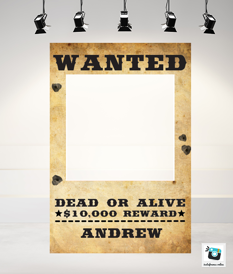 Wanted Frame 70x100cm - 5mm Corflute