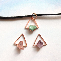 Triangle Gemstone Choker