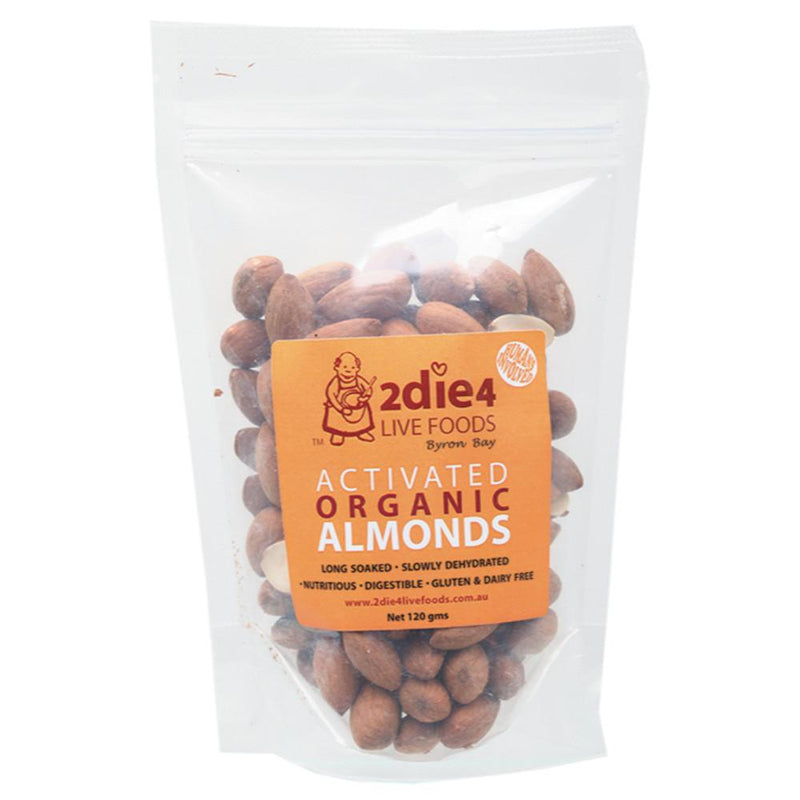 2Die4 Live Foods Activated Organic Almonds 120g