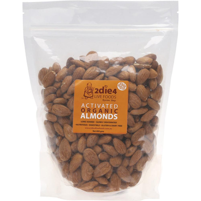 2Die4 Live Foods Activated Organic Almonds 600g