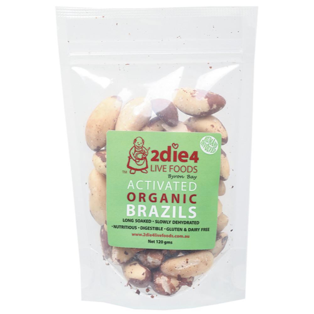 2Die4 Live Foods Activated Organic Brazil Nuts 120g