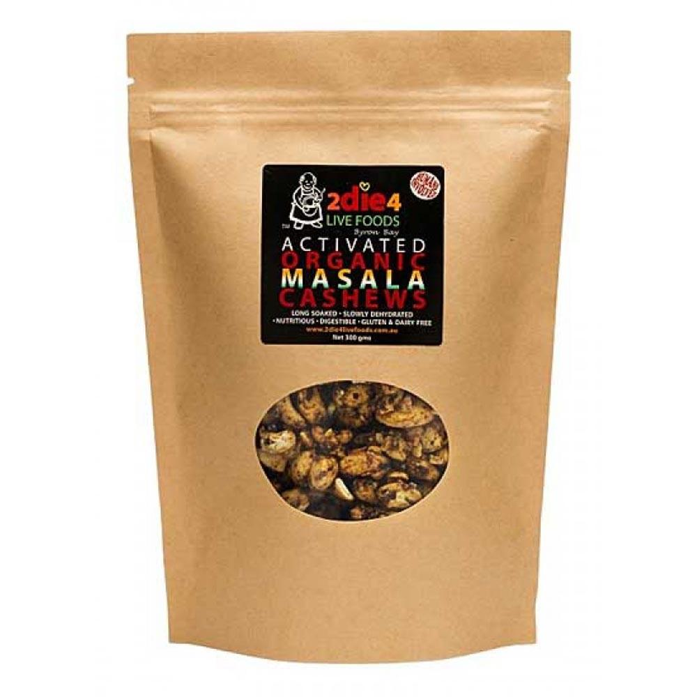 2Die4 Live Foods Activated Organic Masala Cashews 120g