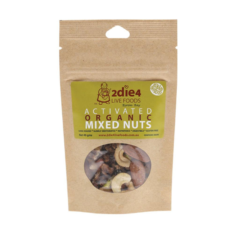 2Die4 Live Foods Activated Organic Mixed Nuts 40g
