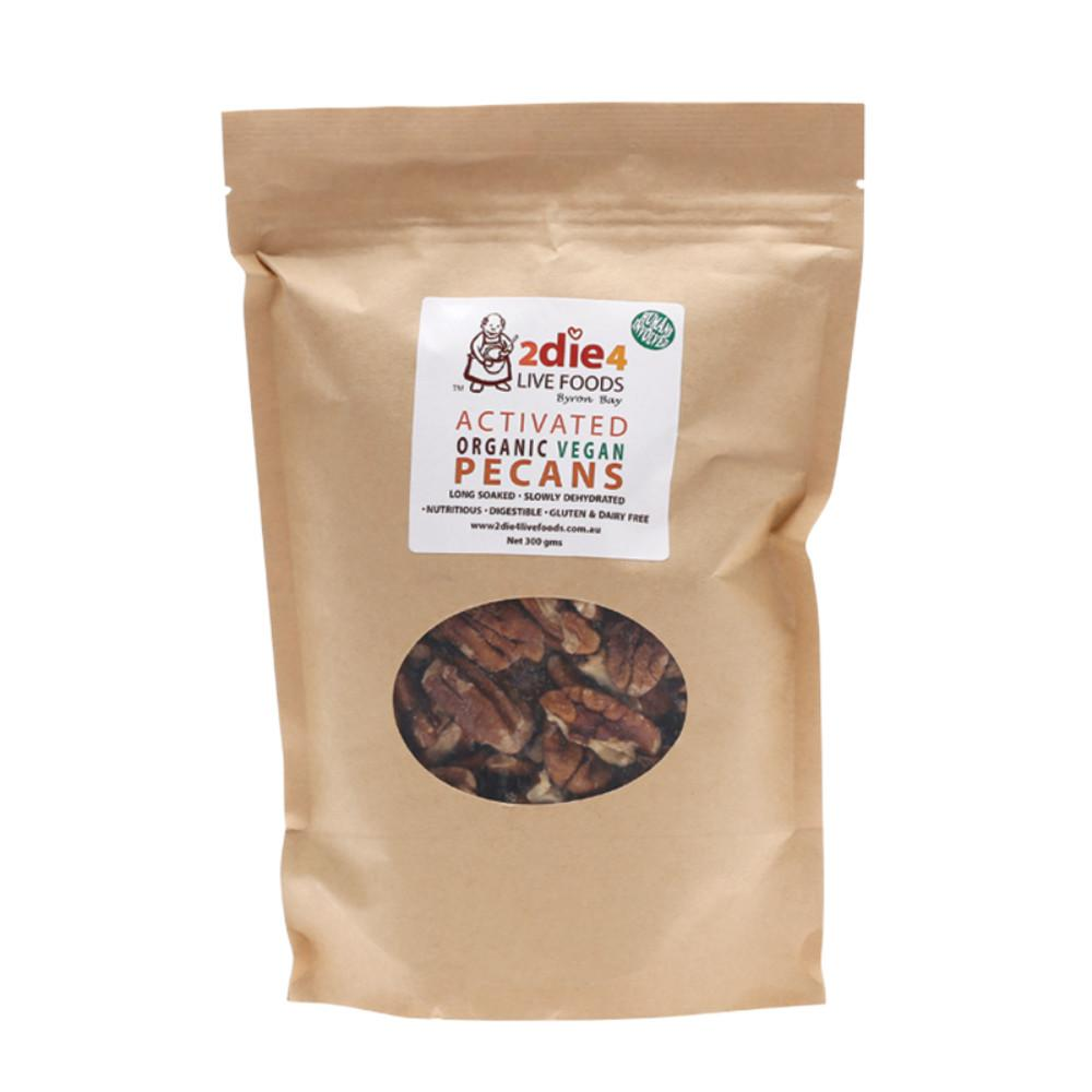 2Die4 Live Foods Activated Organic Pecans Vegan 300g