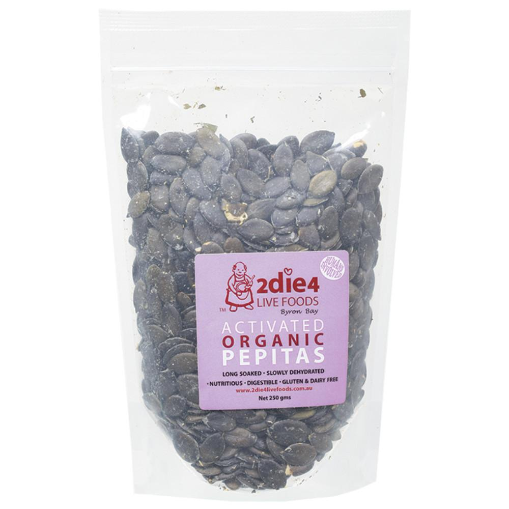 2Die4 Live Foods Activated Organic Pepitas 250g