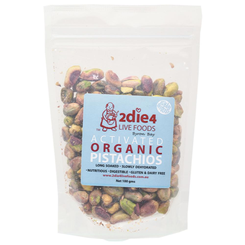 2Die4 Live Foods Activated Organic Pistachios 100g