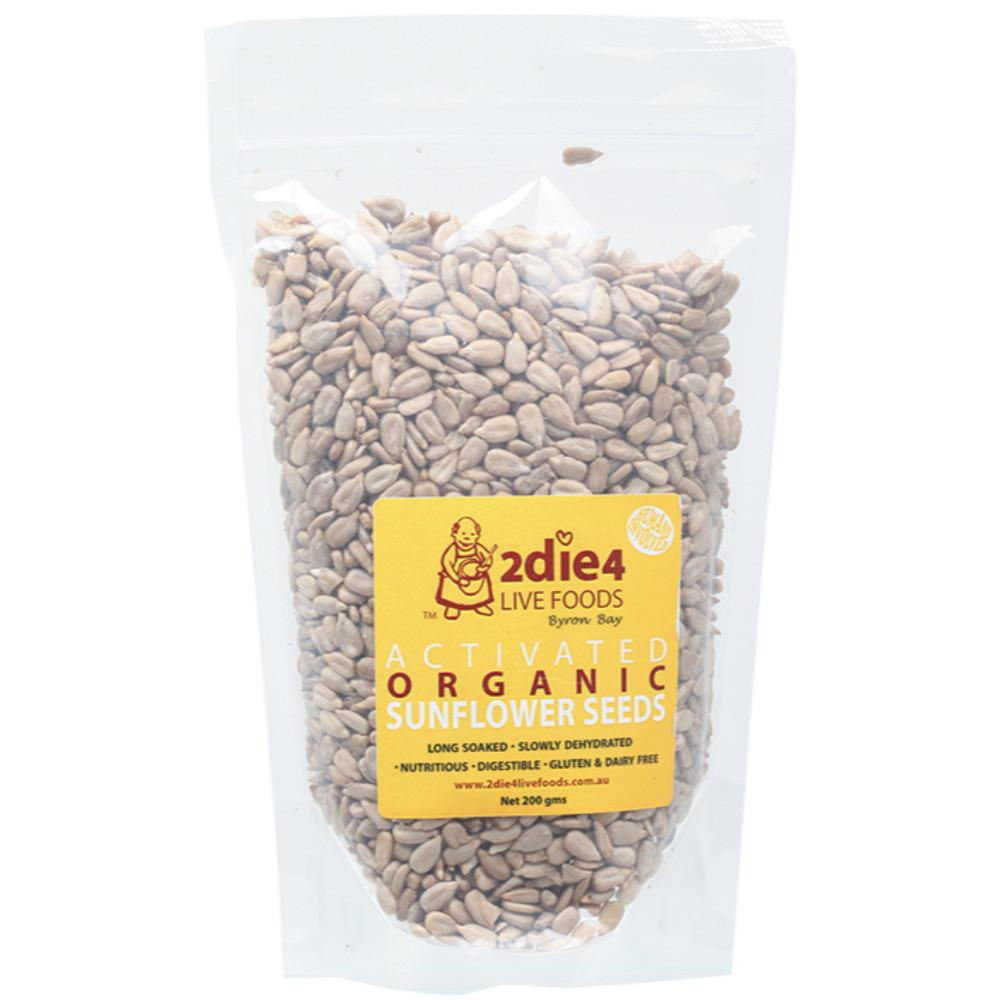 2Die4 Live Foods Activated Organic Sunflower Seeds 200g