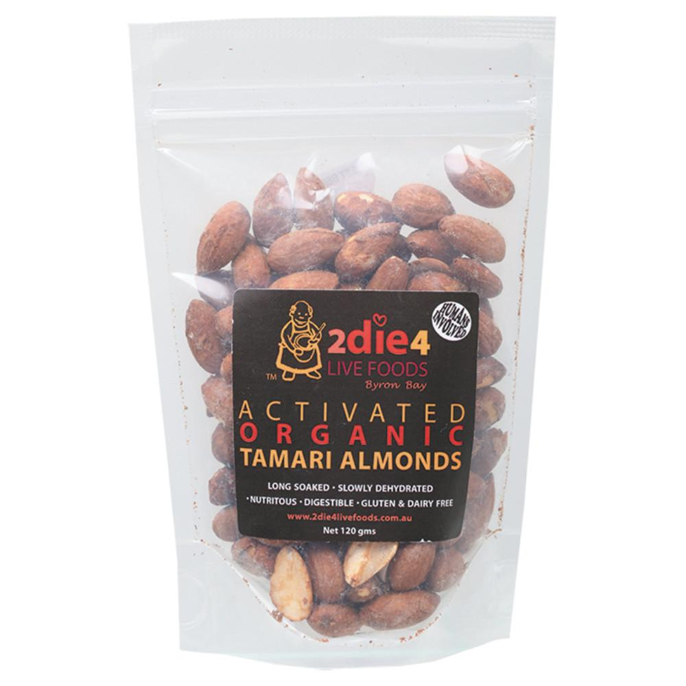 2Die4 Live Foods Activated Organic Tamari Almonds 120g