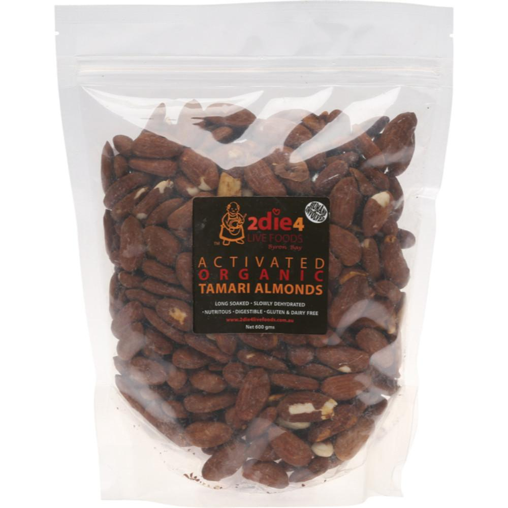 2Die4 Live Foods Activated Organic Tamari Almonds 600g