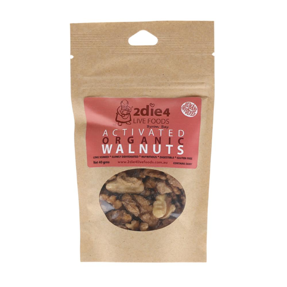 2Die4 Live Foods Activated Organic Walnuts with Fresh Whey 40g