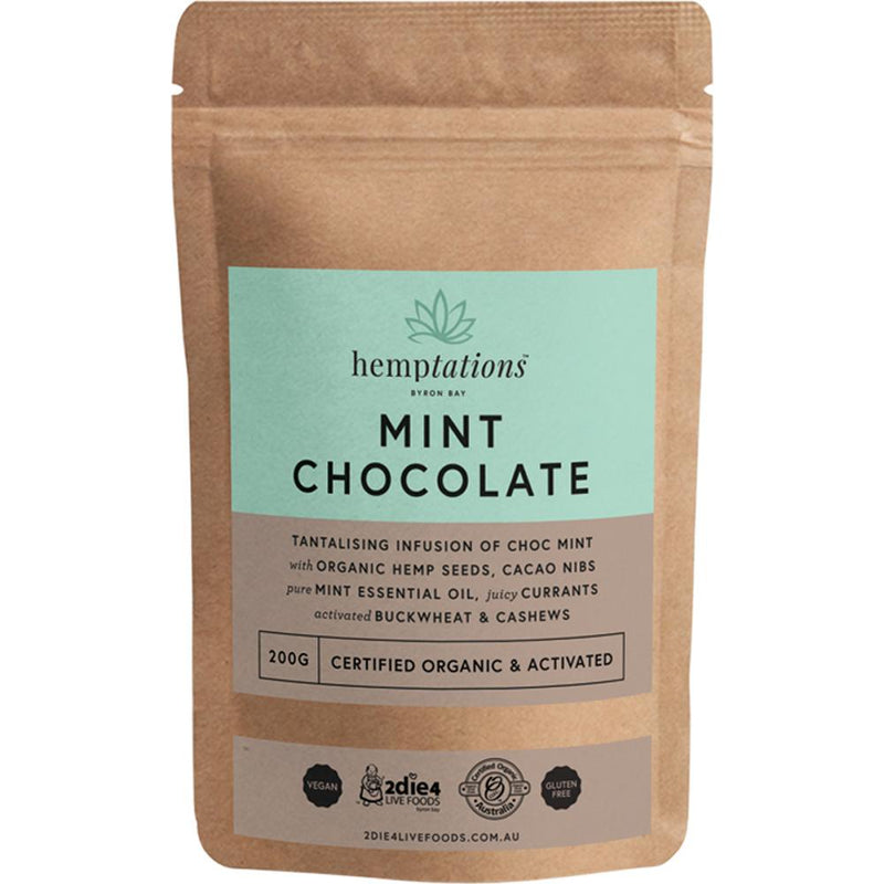 2Die4 Live Foods Hemptations Mint Chocolate 200g