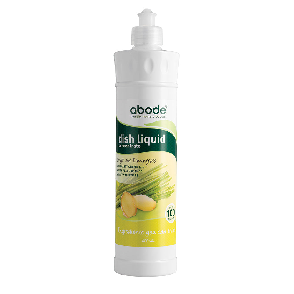 Abode Dish Liquid Concentrate Ginger & Lemongrass 600ml
