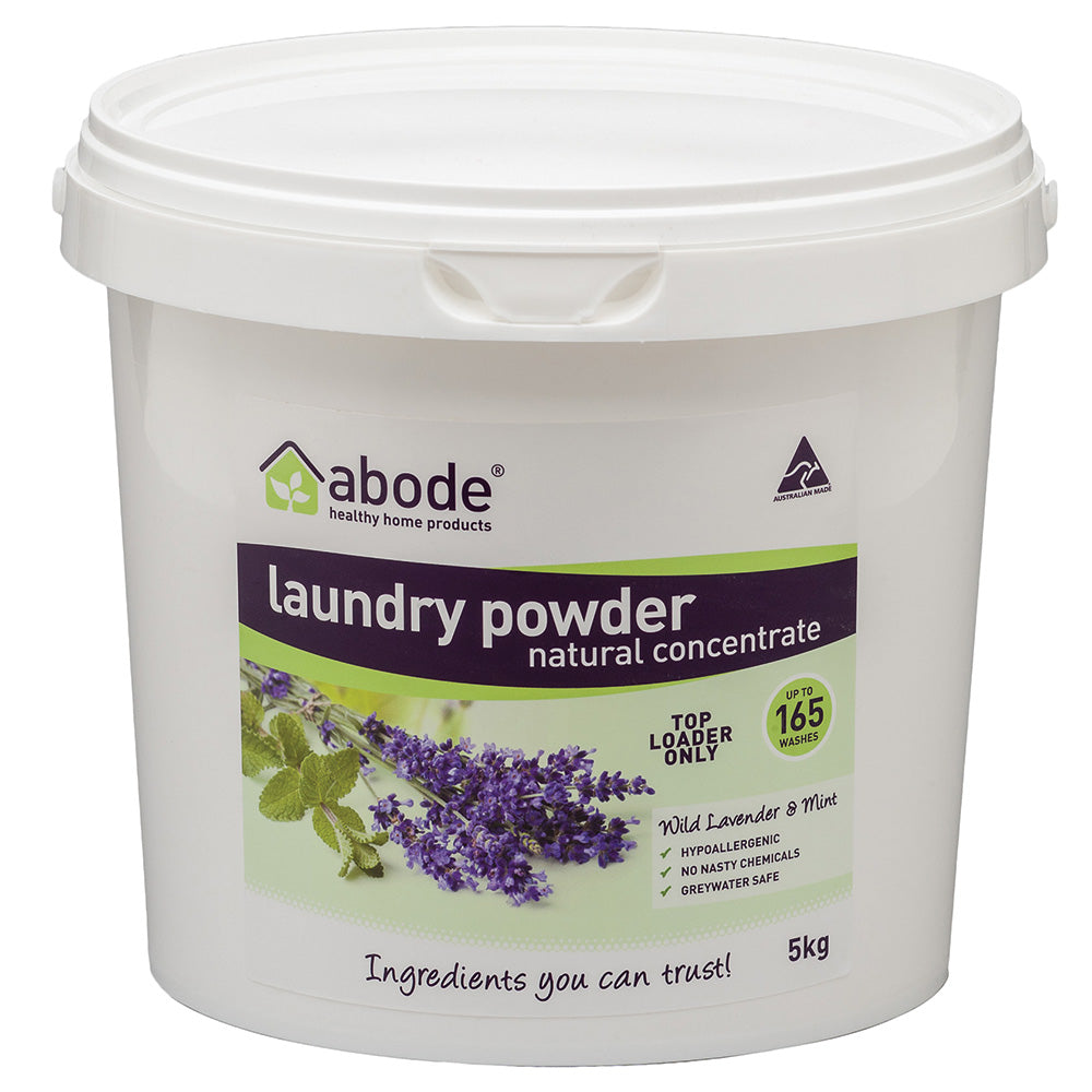 Abode Laundry Pwd (Front Top) Wild Lavender Mint 5kg Bucket