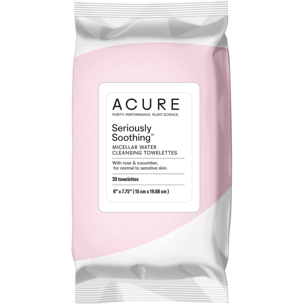 Acure Seriously Soothing Micellar Water Towelettes 30 Pack