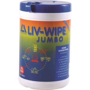 Alcohol Wipes Jumbo Antiseptic Wipes (420 x 145mm) x 75 Tub