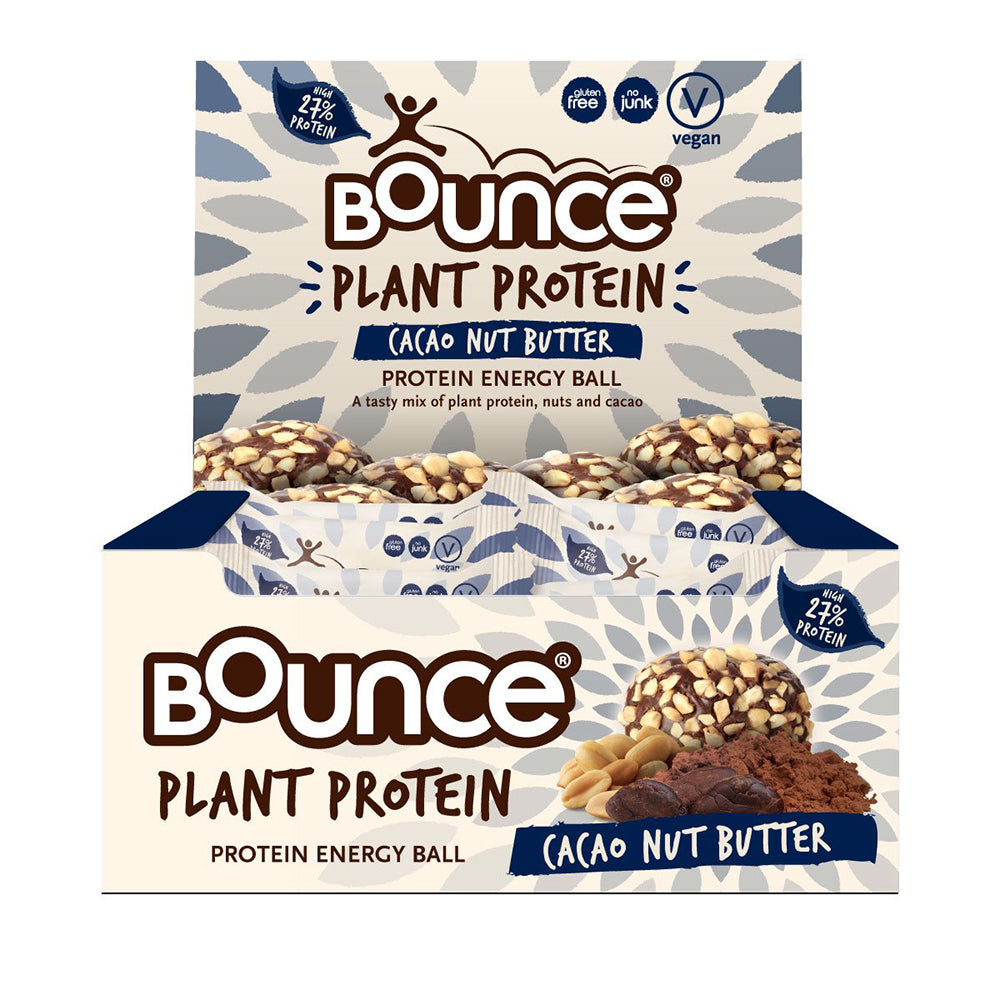 Bounce Plant Protein Balls Cacao Nut Butter 40g x 12 Disp