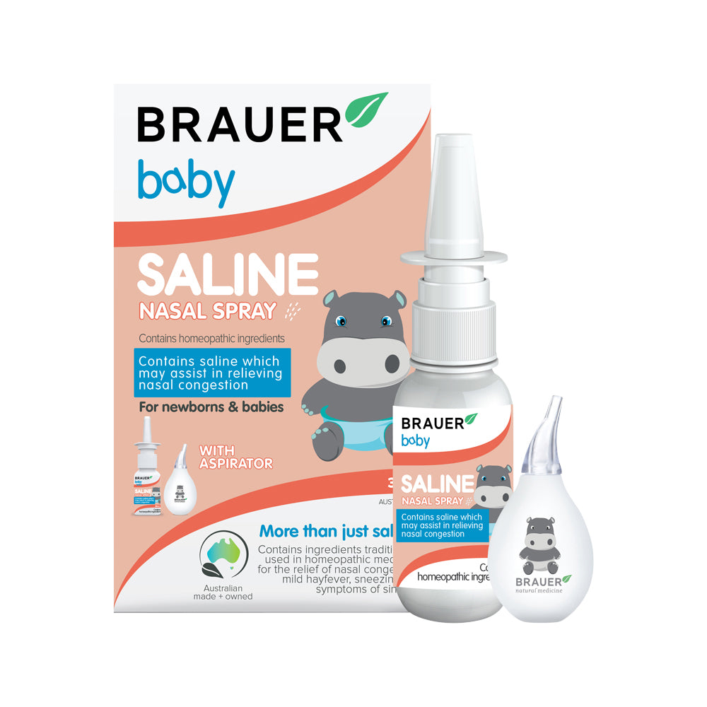 Brauer Baby Saline Nasal Spray with Aspirator 30ml