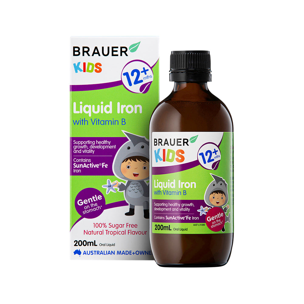 Brauer Kids Iron with Vitamin B Liquid 200ml