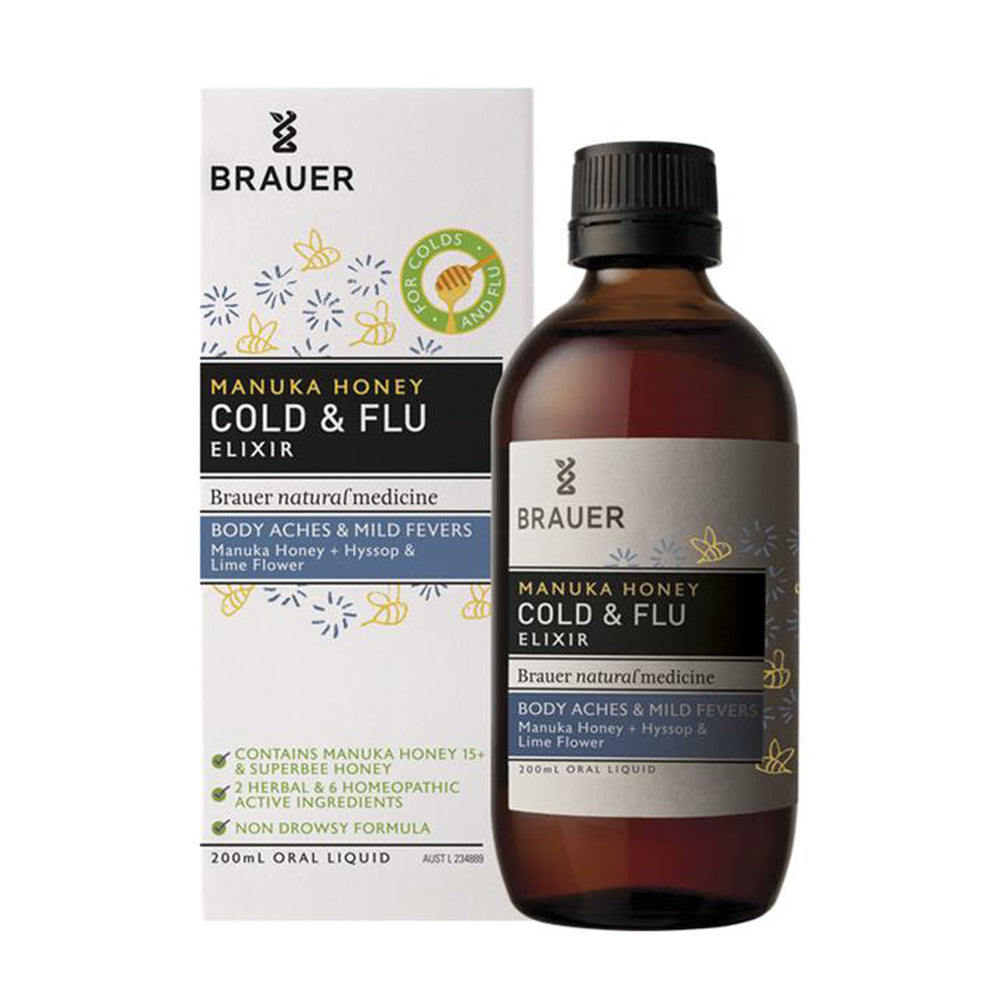Brauer Manuka Honey Cold & Flu Elixir 200ml