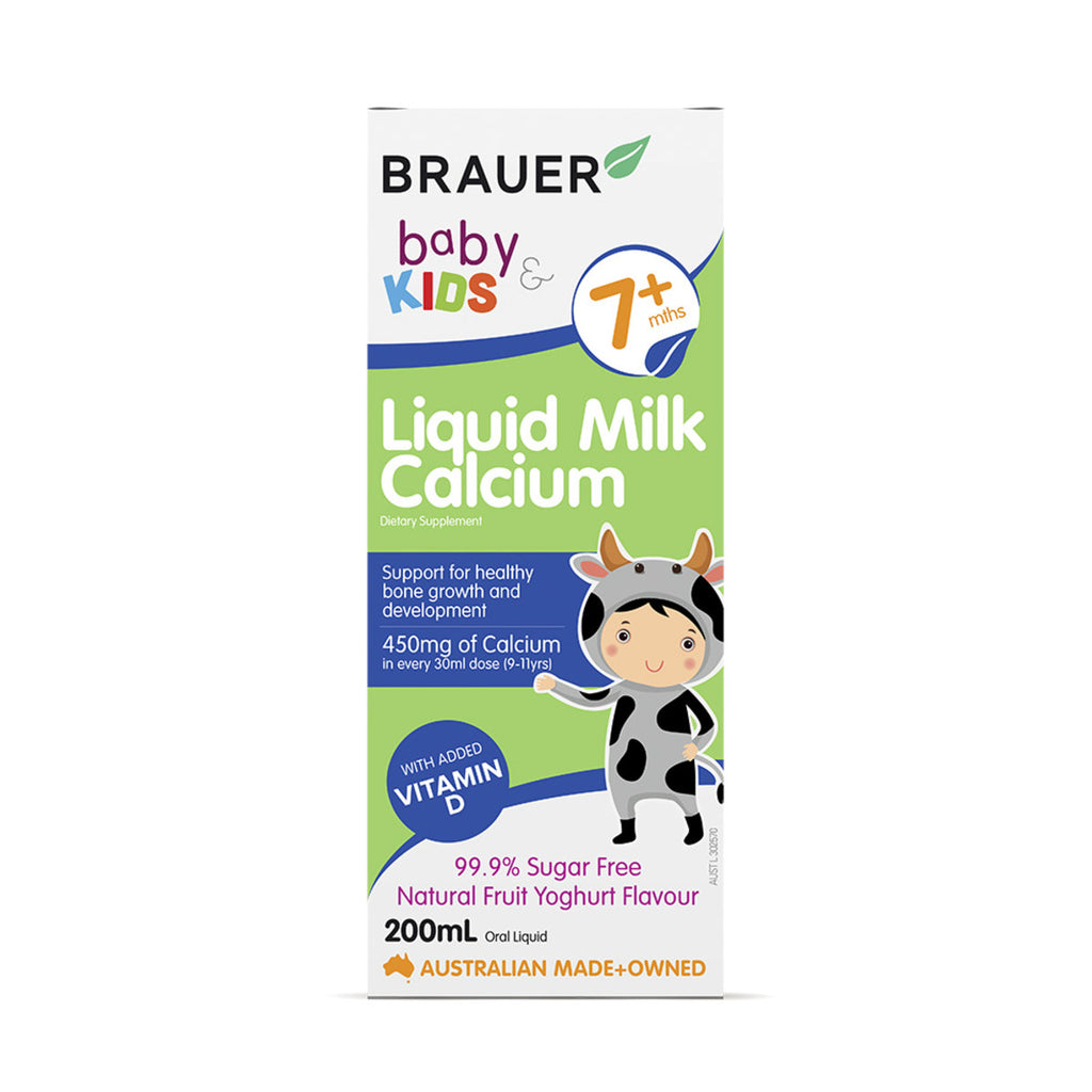 Brauer Baby and Kids Milk Calcium Liquid 200ml