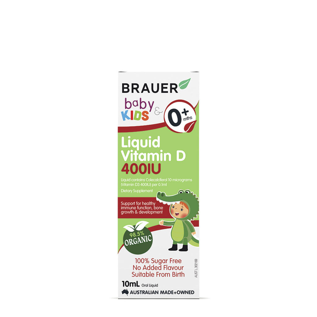 Brauer Baby and Kids Vitamin D 400IU Liquid 10ml