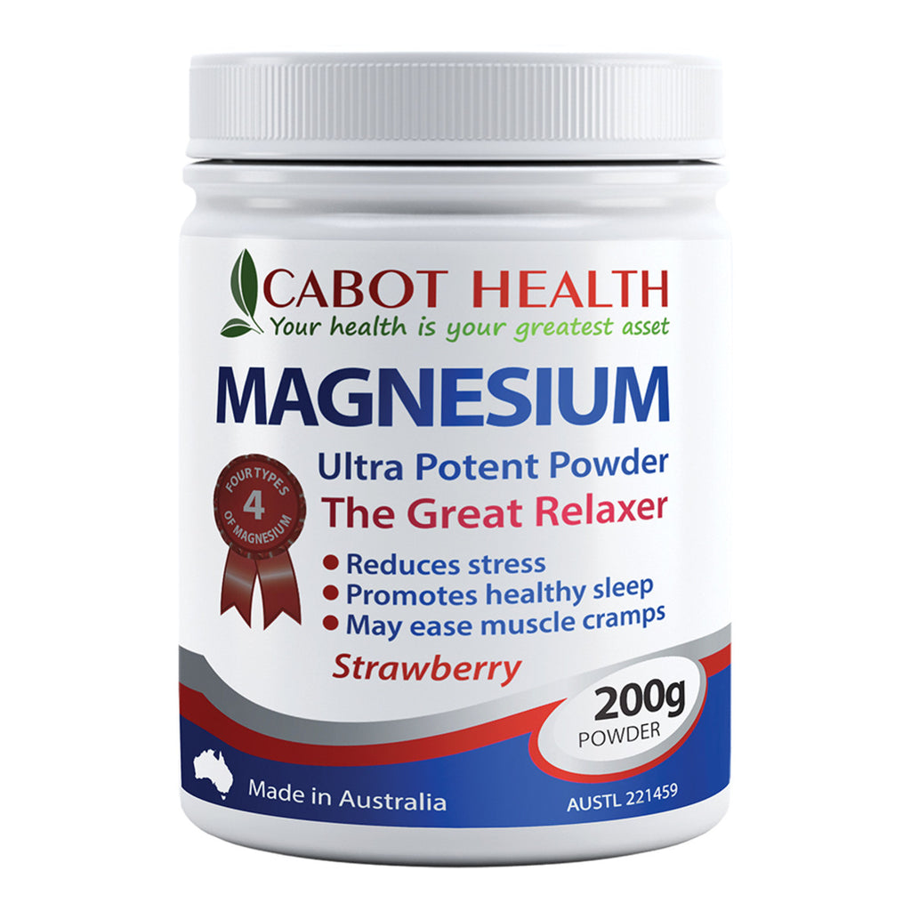 Cabot Health Magnesium Ultra Potent Strawberry Powder 200g