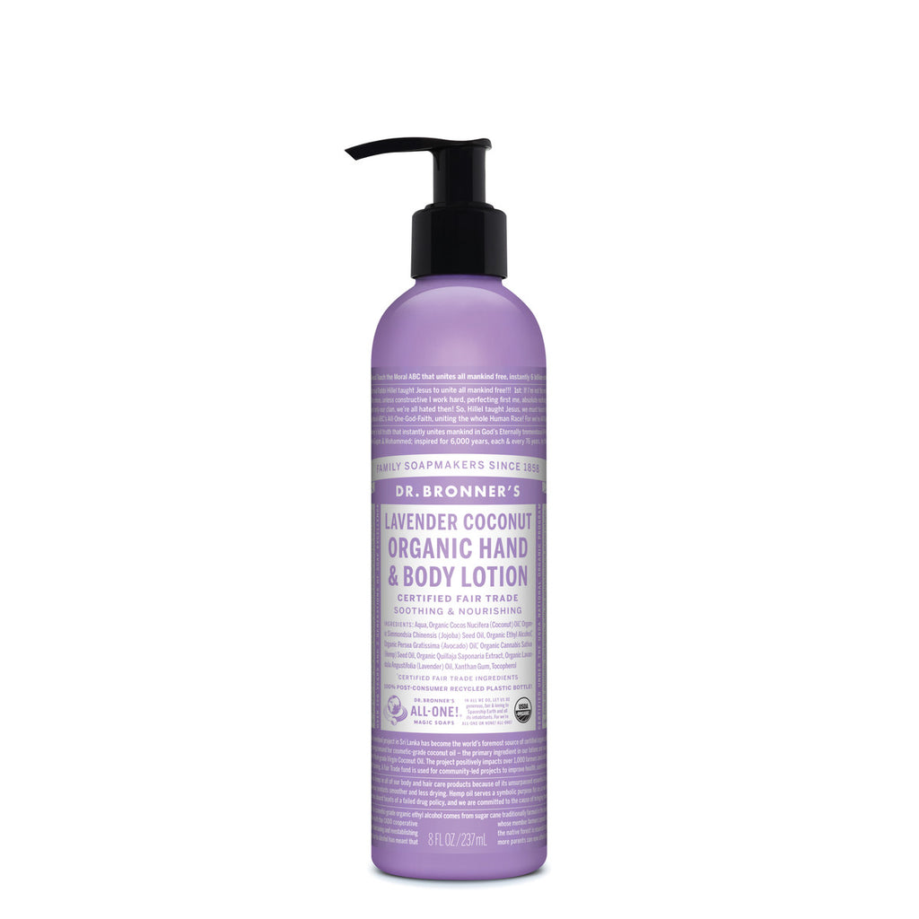 Dr. Bronner's Organic Hand and Body Lotion Lavender Coconut 237ml
