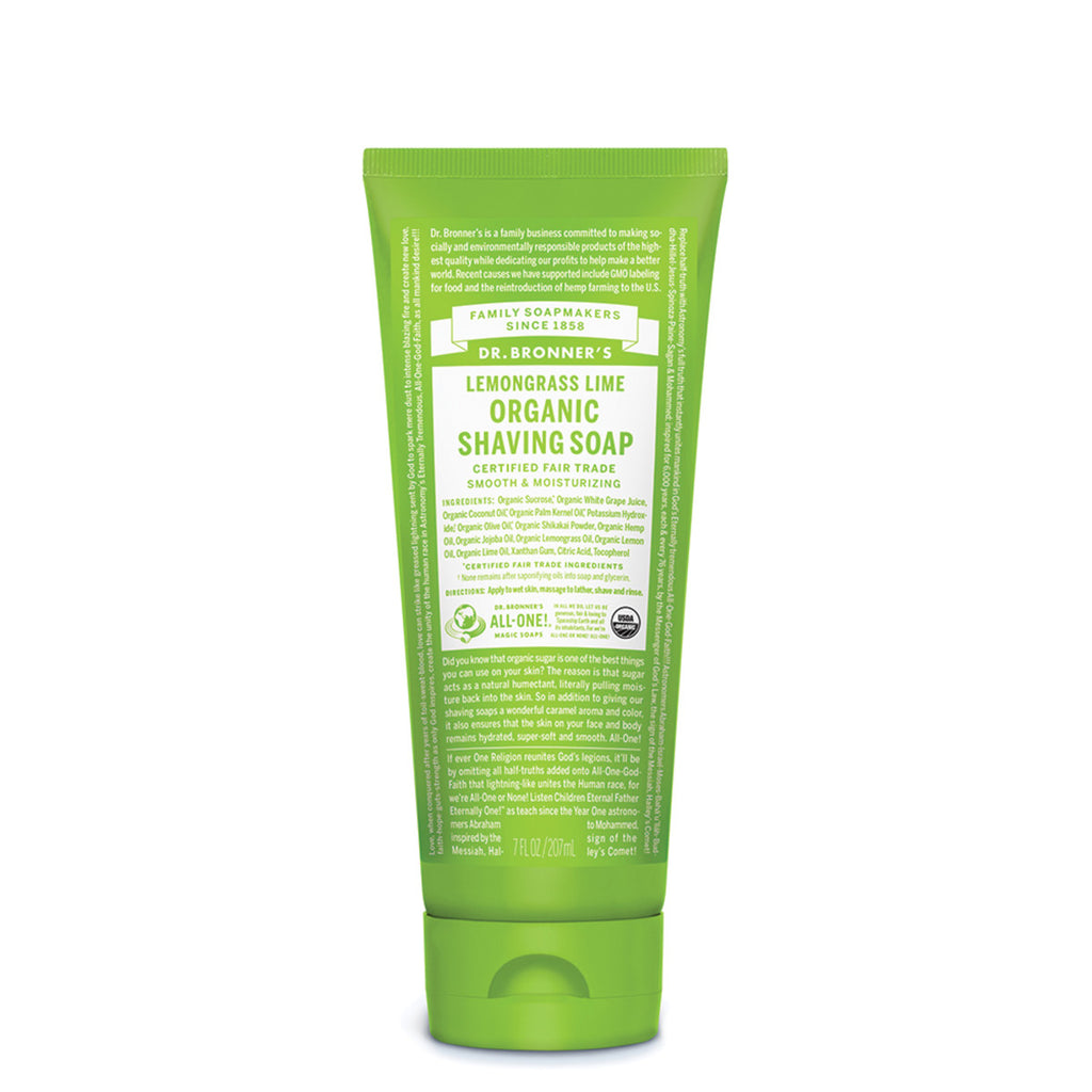 Dr. Bronner's Organic Shaving Soap Lemongrass Lime 207ml