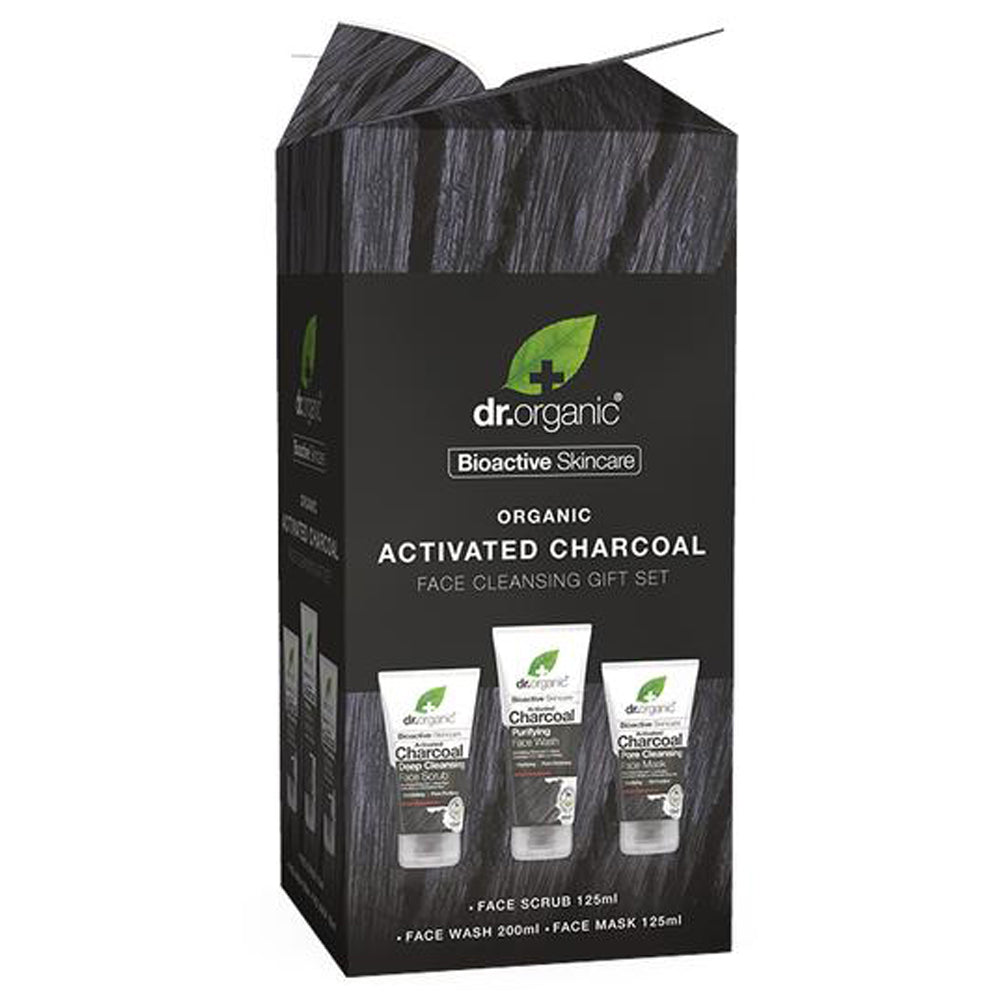 Dr Organic Activated Charcoal Face Cleansing Gift Set