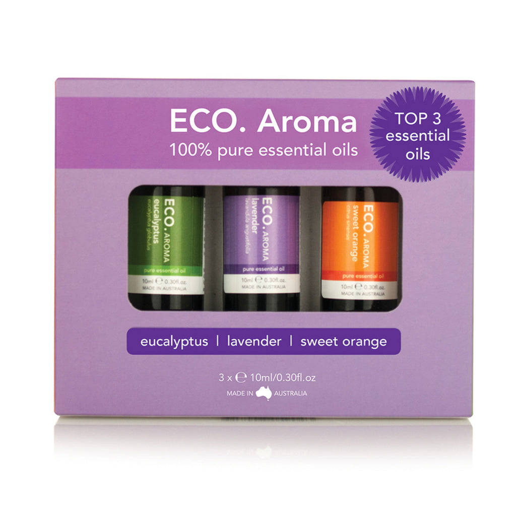 Eco Modern Essentials Aroma Essential Oil Trio Best Selling 10ml x 3 Pack