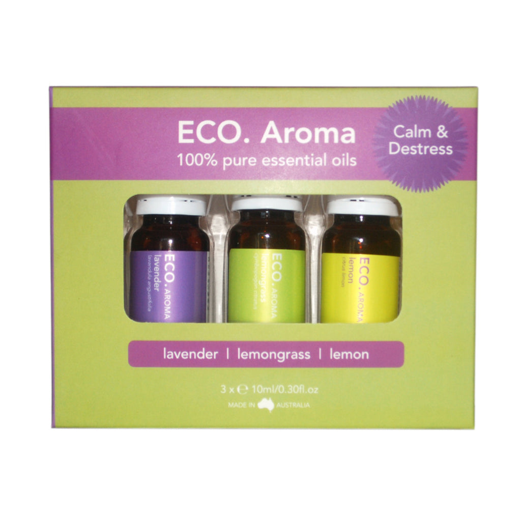 Eco Modern Essentials Aroma Essential Oil Trio Calm & Destress 10ml x 3 Pack
