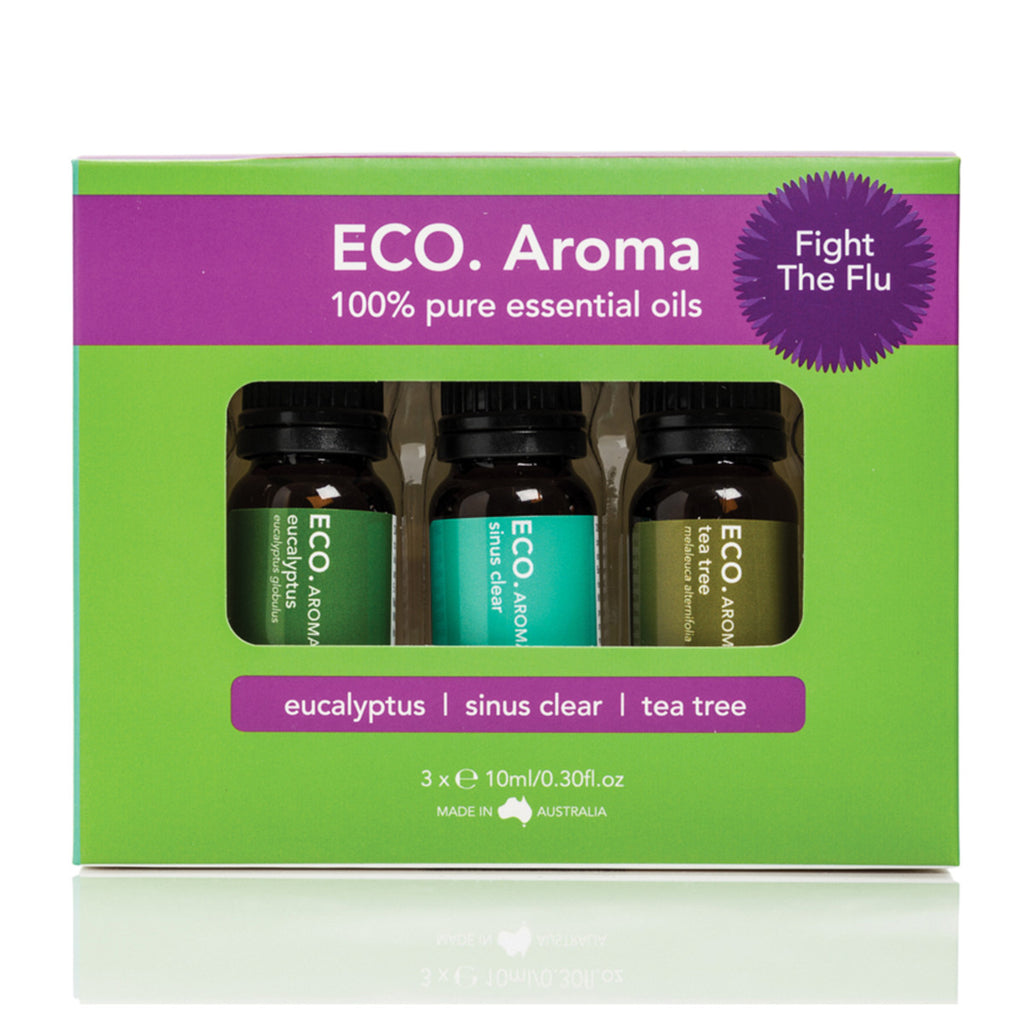 Eco Modern Essentials Aroma Essential Oil Trio Fight The Flu 10ml x 3 Pack