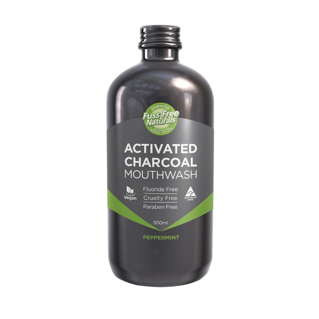 Essenzza FF Activated Charcoal Mouthwash Peppermint 500ml