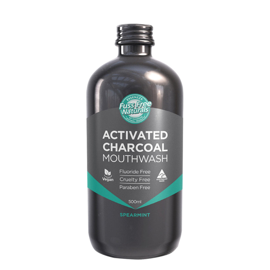 Essenzza FF Activated Charcoal Mouthwash Spearmint 500ml