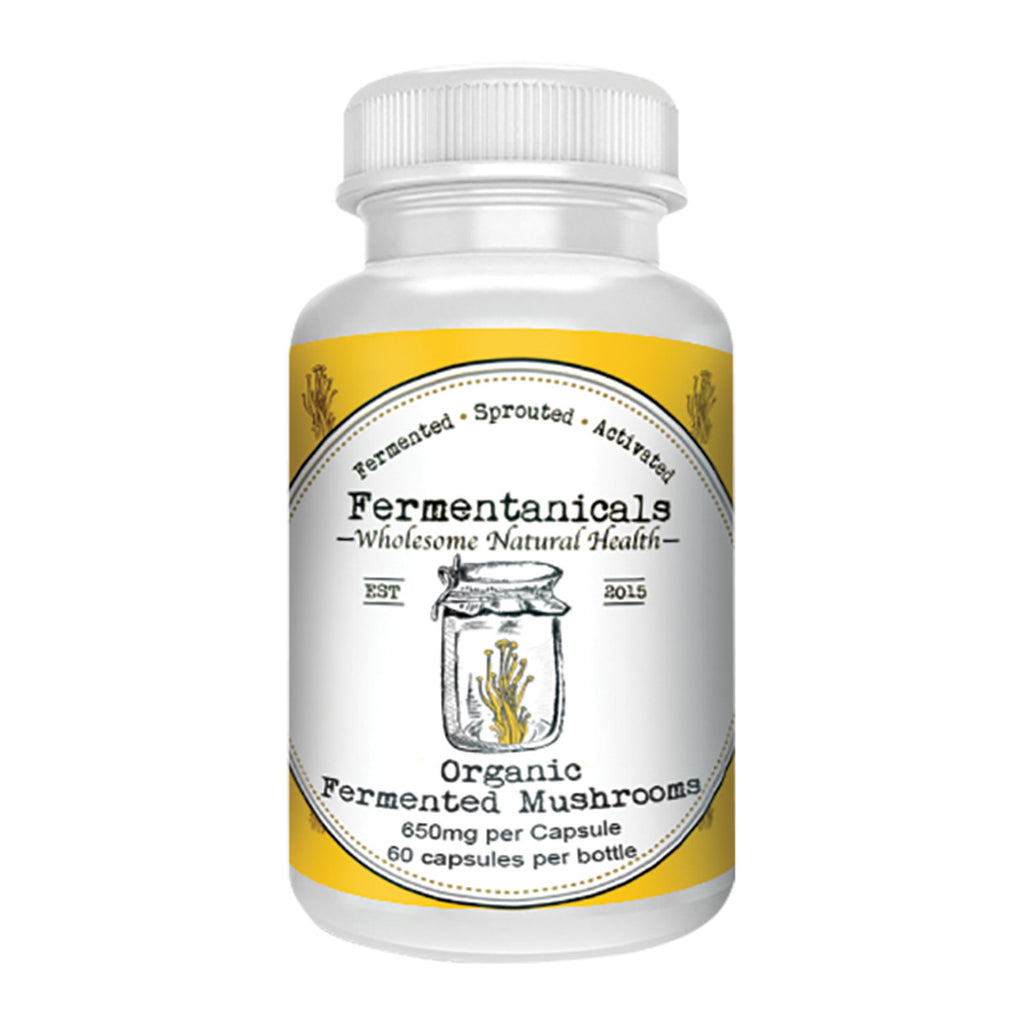 Fermentanicals Organic Fermented Mushrooms 650mg 60c