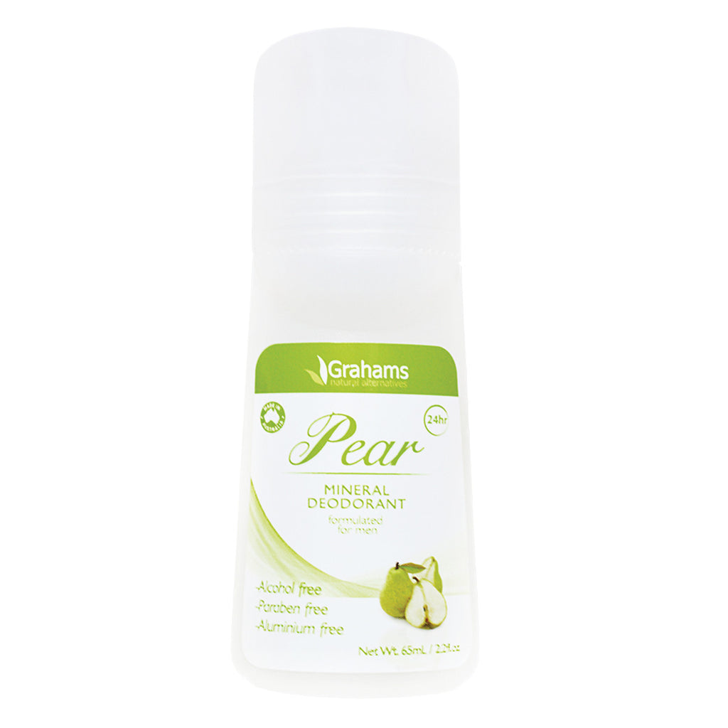 Grahams Natural Mineral Deodorant Pear 65ml