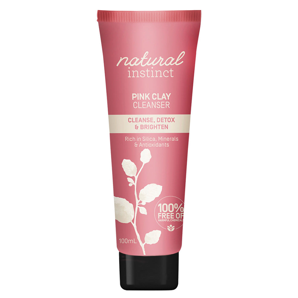 Natural Instinct Cleanser Pink Clay (Cleanse, Detox & Brighten) 100ml