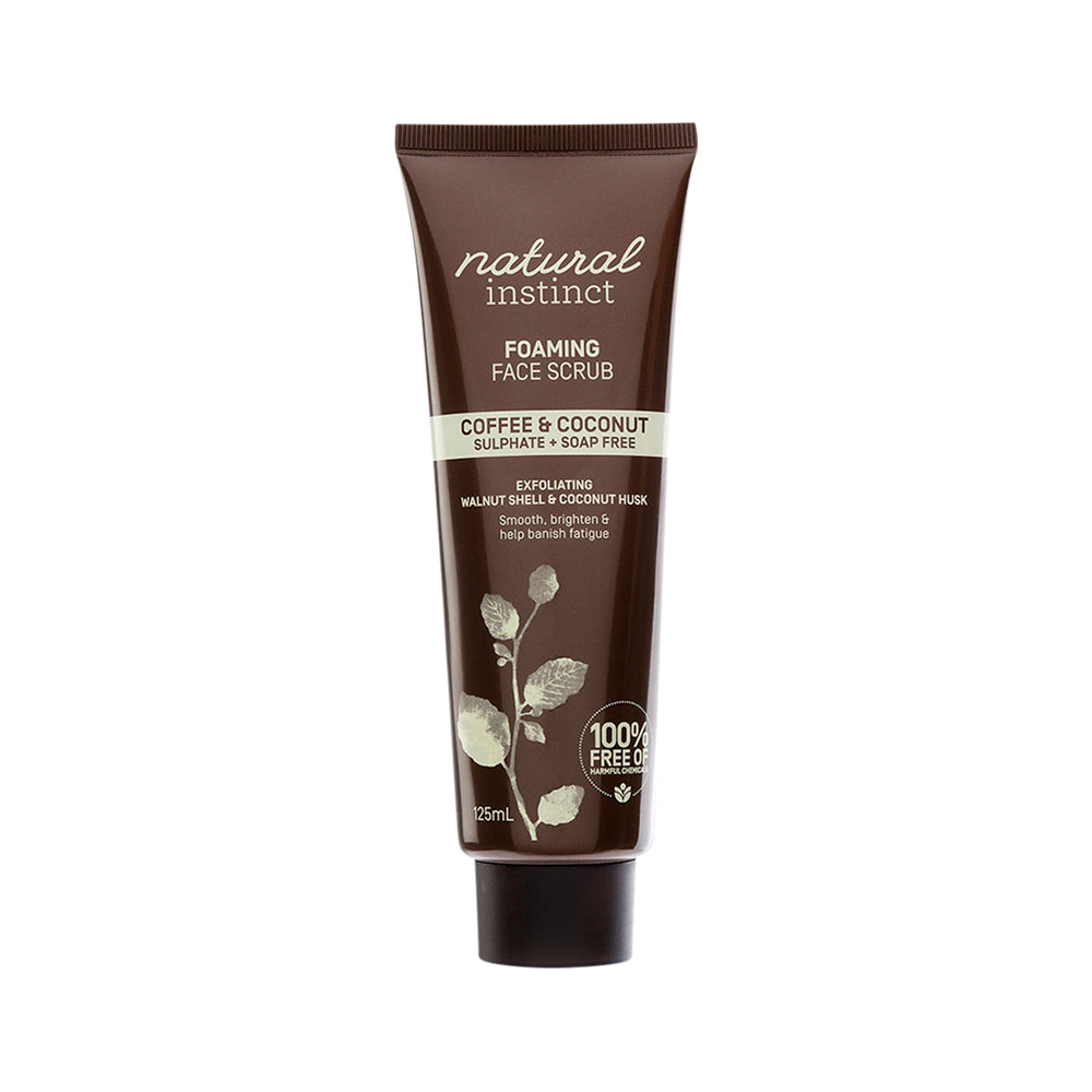 Natural Instinct Face Scrub Foaming (Coffee & Coconut) 125ml
