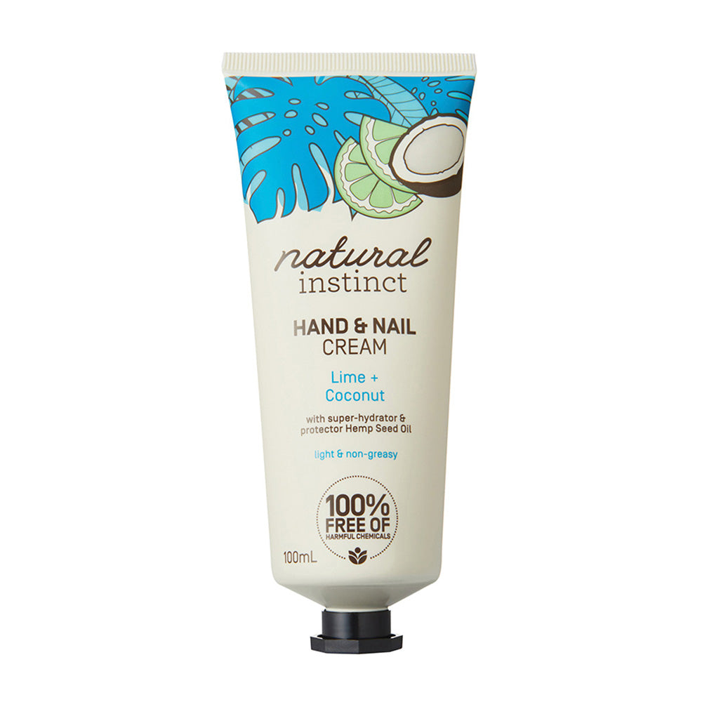 Natural Instinct Hand & Nail Cream Lime + Coconut 100ml