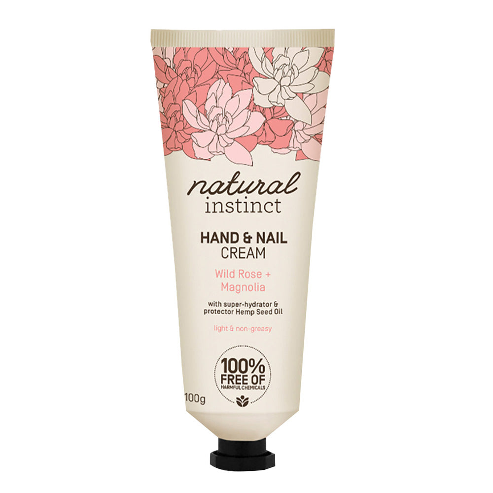 Natural Instinct Hand & Nail Cream Wild Rose + Magnolia 100g