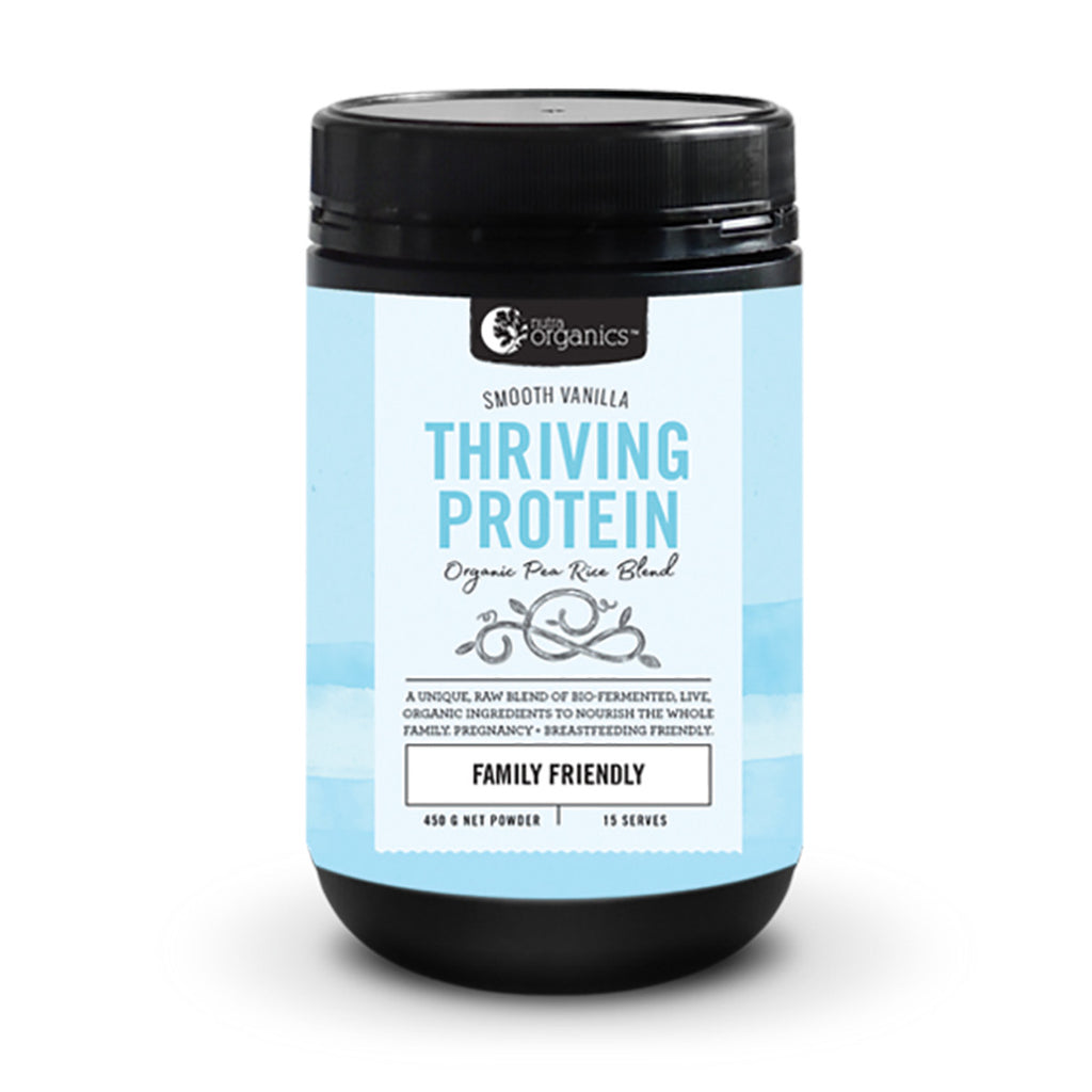 Nutra Organics Thriving Protein Smooth Vanilla 450g
