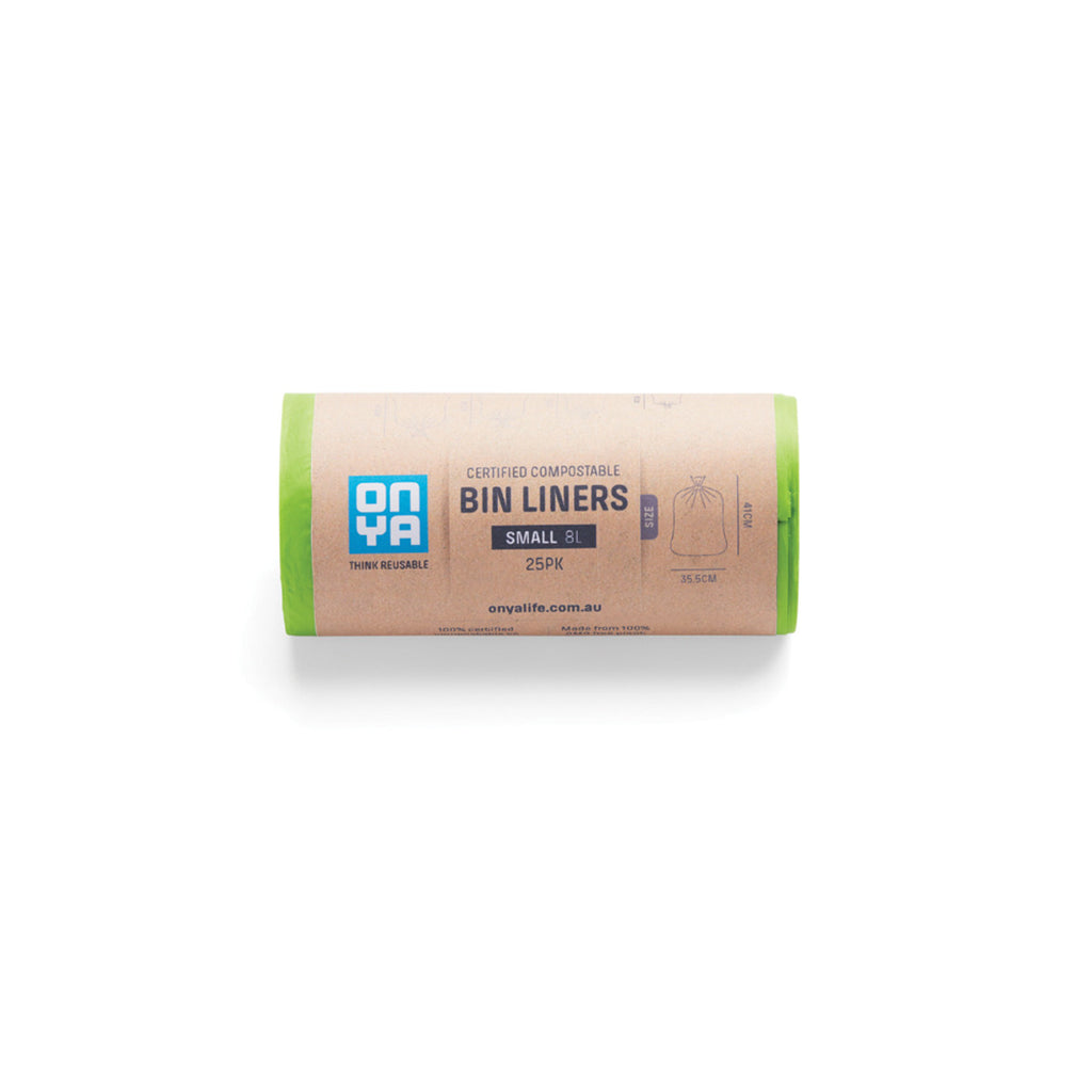 Onya Compostable Bin Liners Small 8L x 25pk