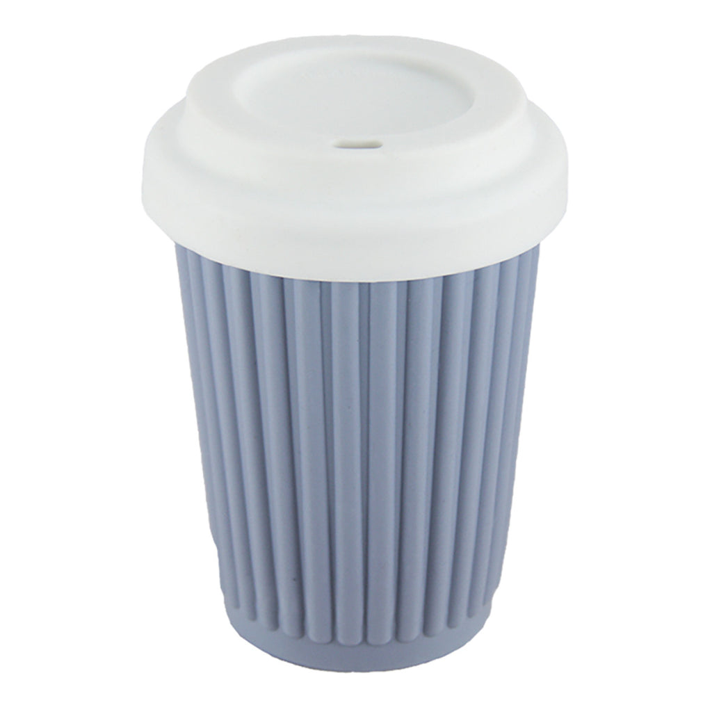 Onya Reusable Coffee Cup Grey/Blue 340ml