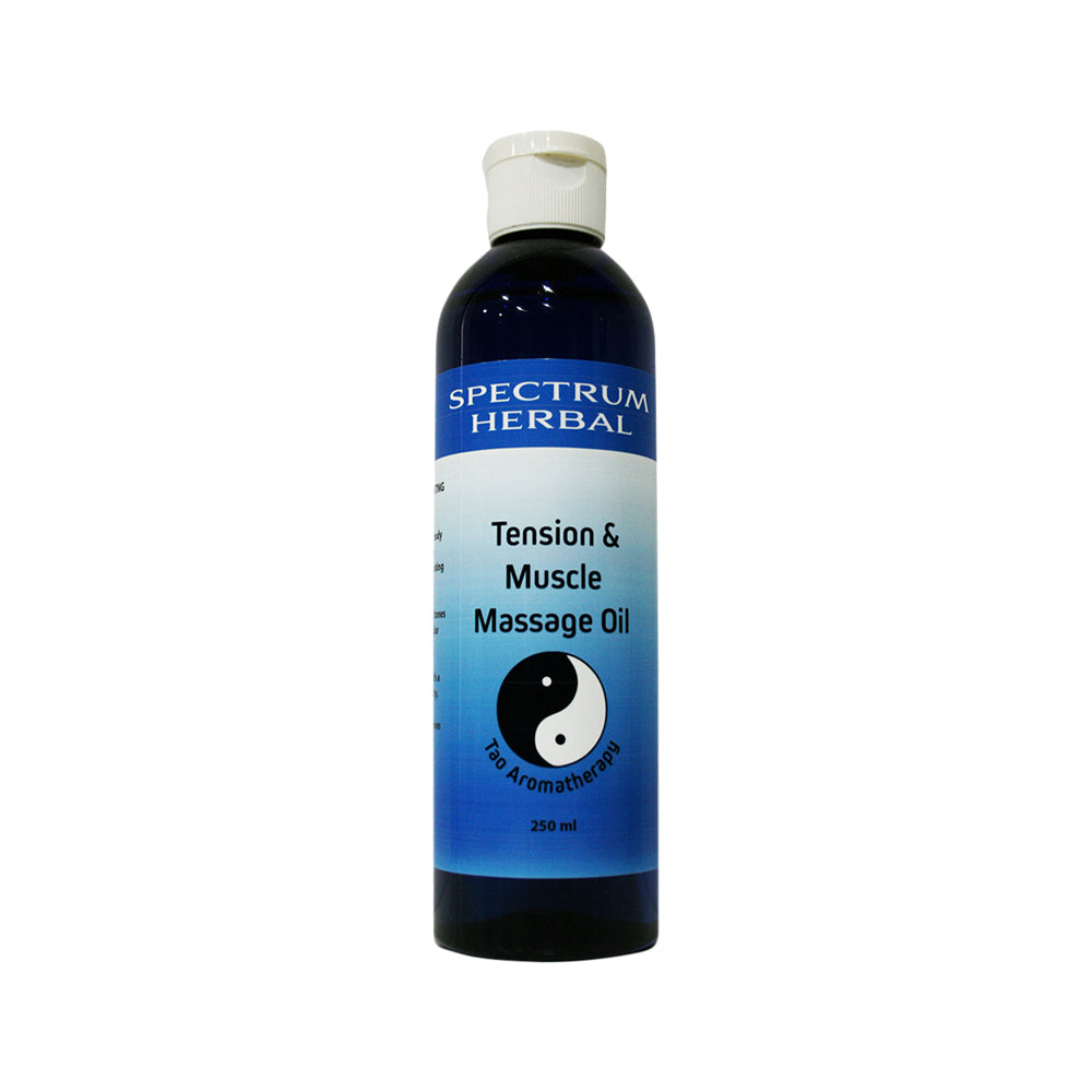 Spectrum Herbal Tao Aromatherapy Massage Oil Tension & Muscle 250ml