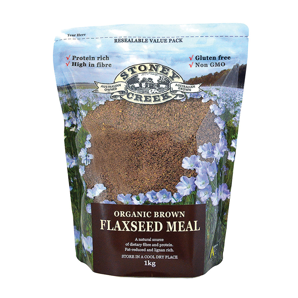 Stoney Creek Organic Flaxseed Meal Brown 1kg