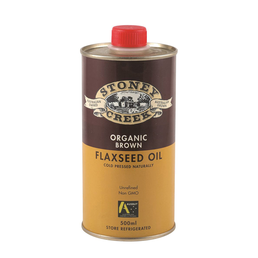 Stoney Creek Organic Flaxseed Oil Brown 500ml